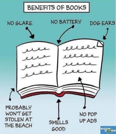 Books good. Phones bad