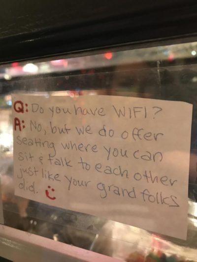 Phones are bad via local ice cream shop