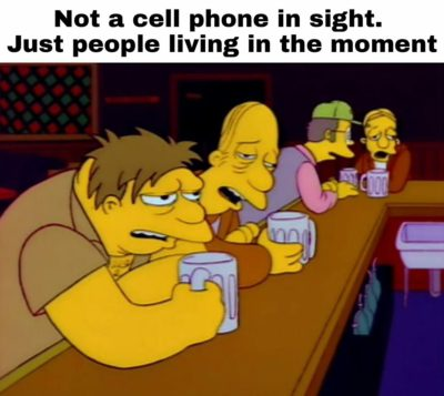 Phone bad beer good