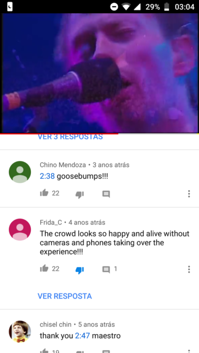 Found on an live version of karma police by Radiohead