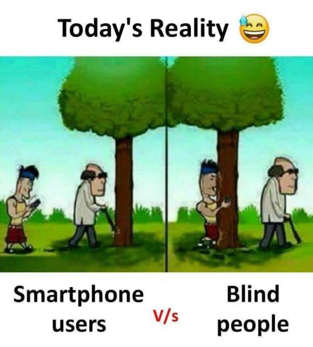 Today's Reality (g?) Smartphone Blind V/s https://inspirational.ly