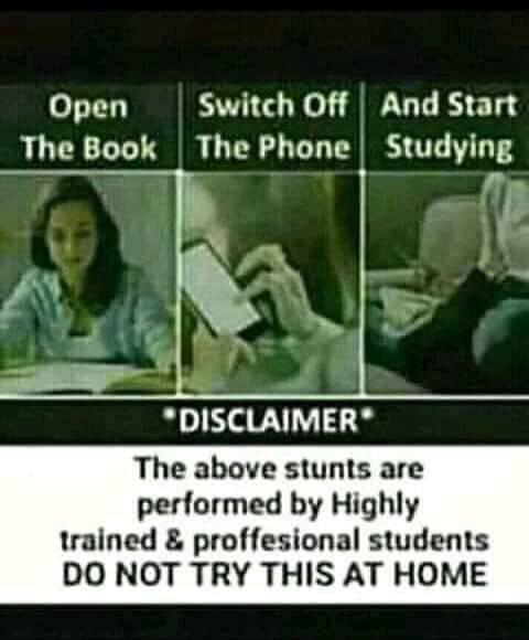 Open Switch Off And Start The Book The Phone Studying 'DISCLAIMER' The above stunts are pedmmed by Highly trained 8. proflesional students 00 NOT TRY THIS https://inspirational.ly