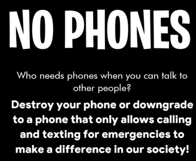 Found a No Phones Poster