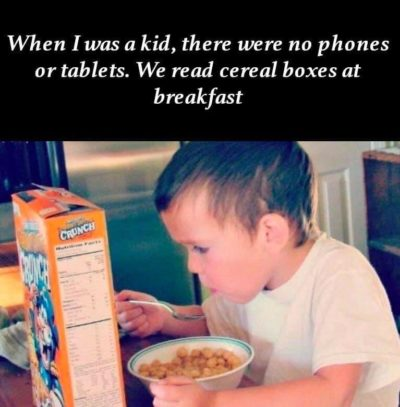 Cereal box good
