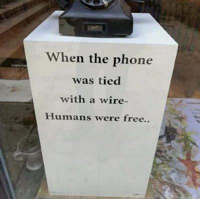 Phones control us