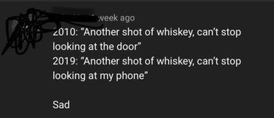 It was on an old country song.