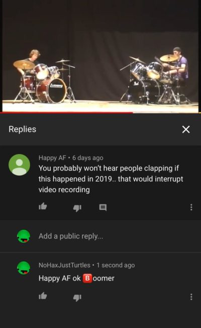 on a drum battle video