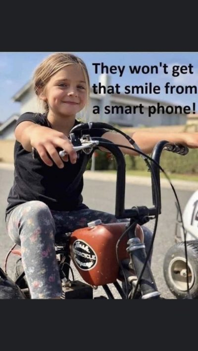 Smart phones can't make you smile