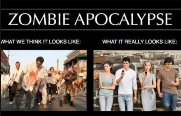 ZOMBIE APOCALYPSE WHAT WE THINK IT LOOKS LIKE: WHAT IT REALLY LOOKS LIKE: https://inspirational.ly