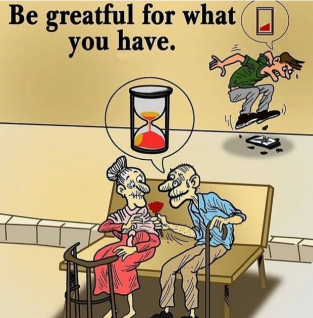 Be greatful for what Q you have. — https://inspirational.ly