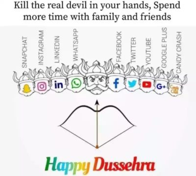 I'm not sure whether this belongs here. On this auspicious occasion of Dassera…