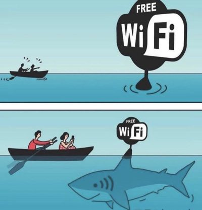 The things people will do for WiFi smh