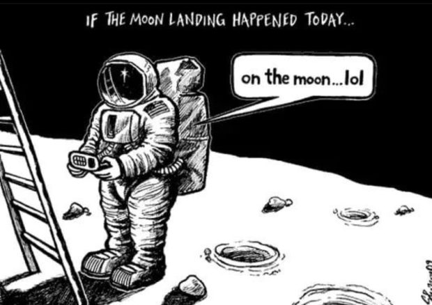 If THE MooN LANDING HAPPENED TODAY... https://inspirational.ly