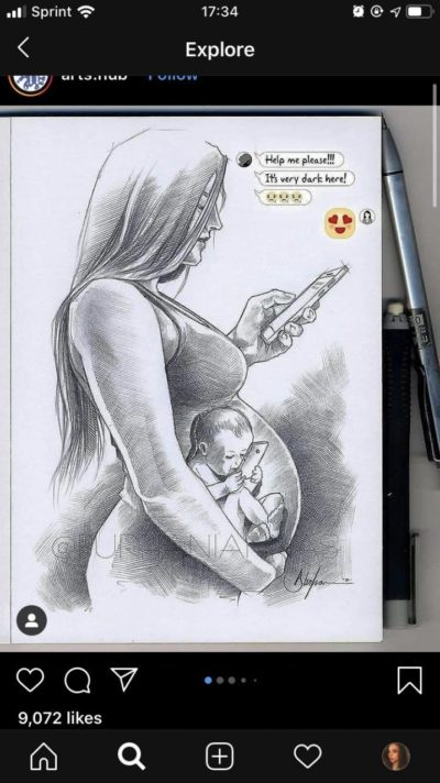 Because babies are born with phones