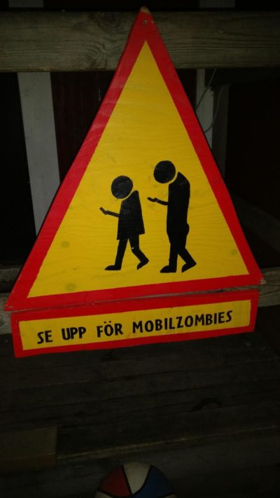 It says: Look out for mobile-zombies.