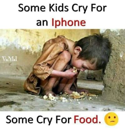 Phone bad. Malnutrition good.