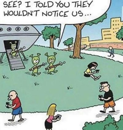 We're missing all the aliens.