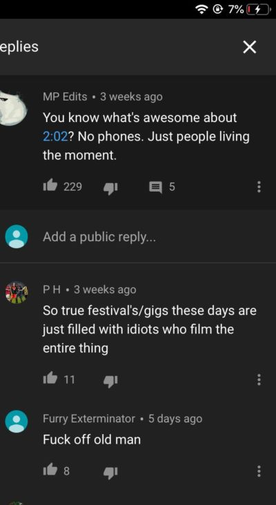 On a twenty one pilots video, 7 years ago. (I'm charging it)