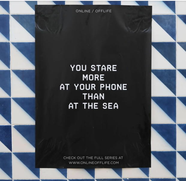 ONLINE / OFFLIFE YOU STARE MORE AT YOUR PHONE THAN AT THE SEA CHECK OUT THE FULL SERIES AT https://inspirational.ly