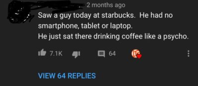 electronic device bad drink coffee good