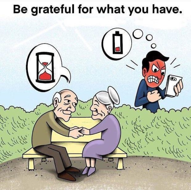 Be grateful for what you have. https://inspirational.ly