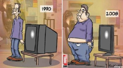 tv thin man fat technology bad