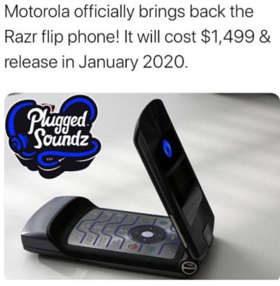 A phone that both past and Future have met in the present