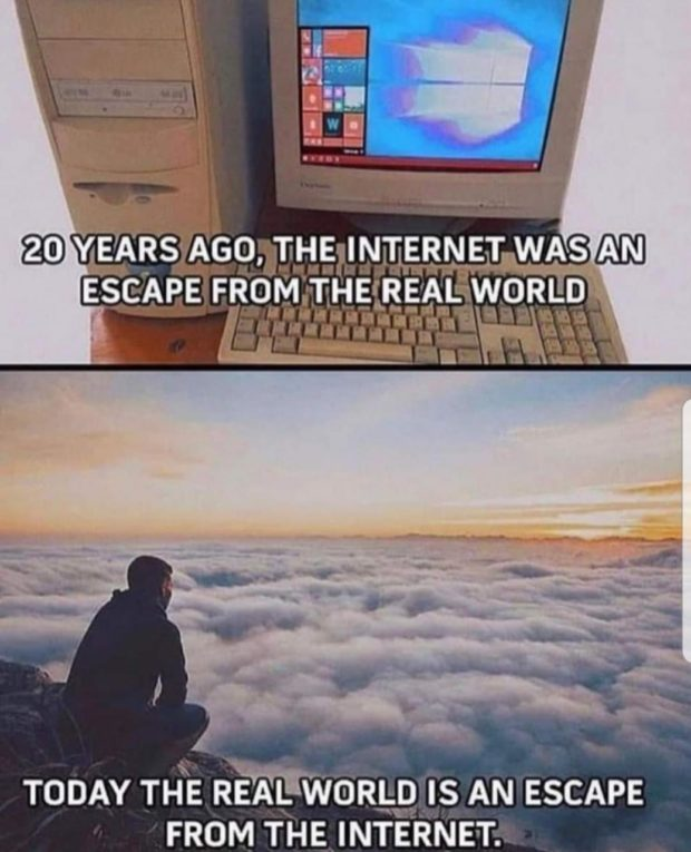 """w. @ YEARS Asa-.mglm'rem ET WAS 122m ESG'APE FROM-fl. flgtngAL WORLD """"'- {-ufi'i '- TODAY THE REALWGRLD IS AN ESCAPE FROM https://inspirational.ly"""