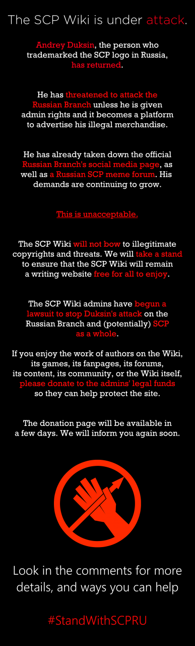 Attention SCP Fans