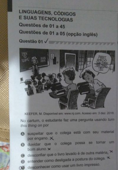 Spotted on Brazil's National High School Exam