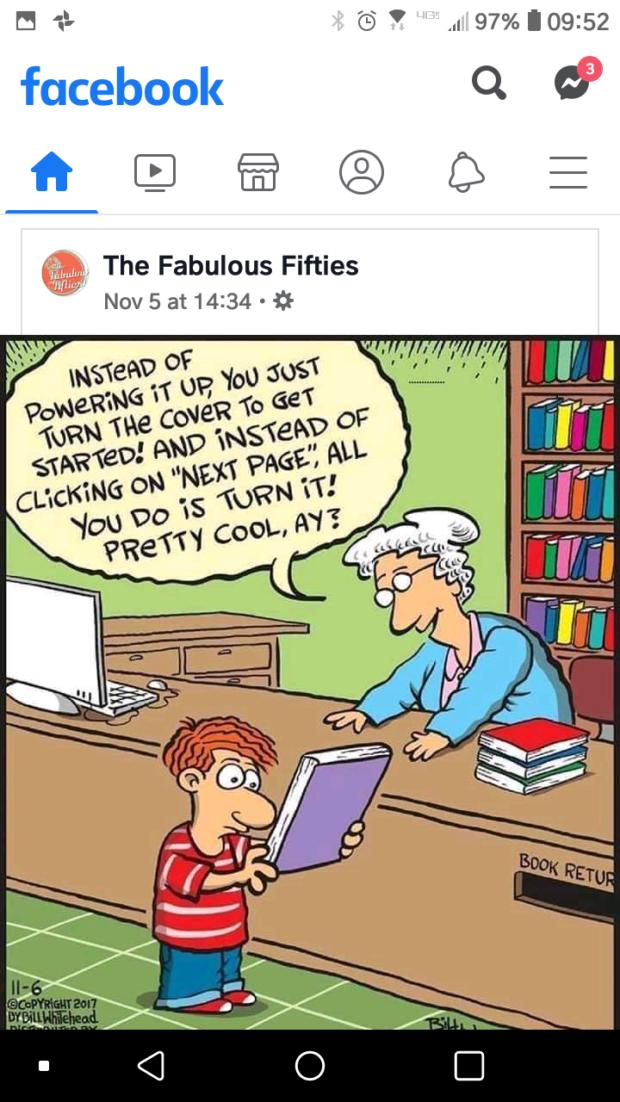 1'- 'G' ' 1.. 97%I09:52 fucebook Q & fl [:1 % ® C3 Qfl The Fabulous Fifties 7M Nov 5 at 14234 - {f https://inspirational.ly