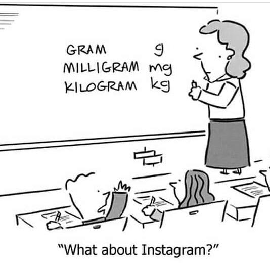 "GKAM MILLIGRAM mg ""What about Instagram?"" https://inspirational.ly"