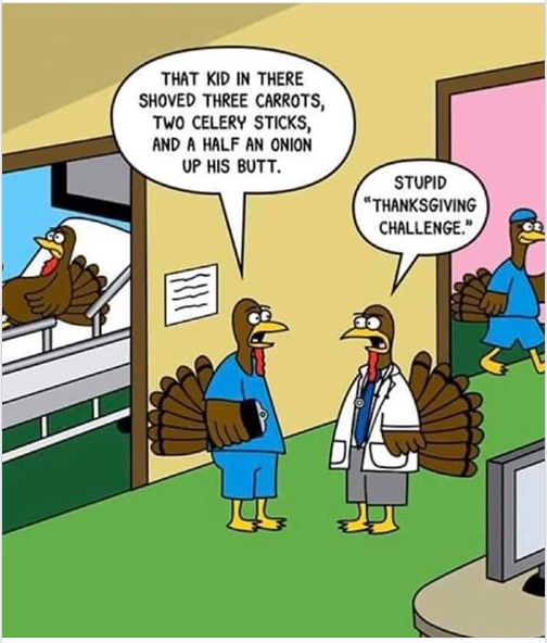 """m1 no In THERE suoveo THREE cmors, TWO CELERV sncxs, AND A HALF AN omou UP ms sun. STUPID """"THANKSGIVING CHALLENGE."""" https://inspirational.ly"""