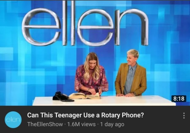 Can This Teenager Use a Rotary Phone? TheEIlenShow - 1.6M views - 1 day https://inspirational.ly