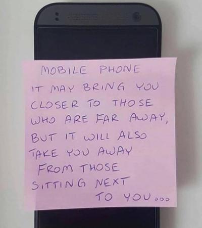 Phone is bad. No use phone!