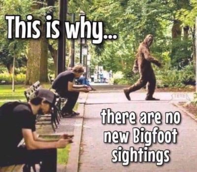 Big foot hasn't discovered wifi yet.