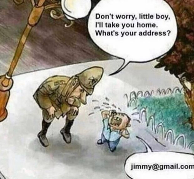 Don't worry. little boy. I'll take you home. What's your address? , jimmy@gmail.com x  https://inspirational.ly