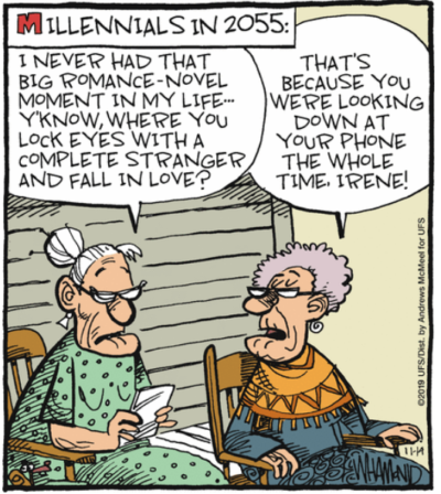 Pesky millenials are at it, even into old age