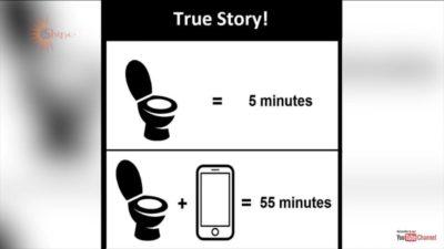 Phone =long poop