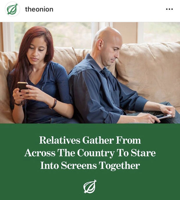 Relatives Gather From Across The Country To Stare Into Screens Together @' https://inspirational.ly