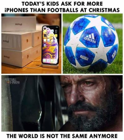 Phone bad, Football good