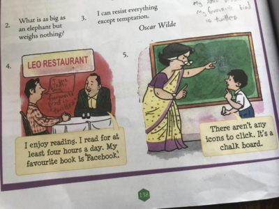 In an English textbook
