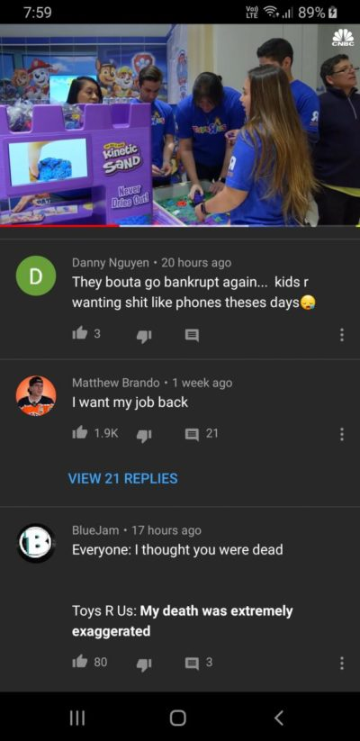 Found one on the Toys R us comeback video