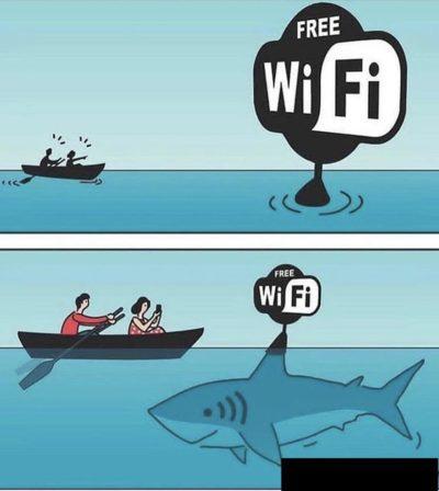 Just looking for wifi in a row boat