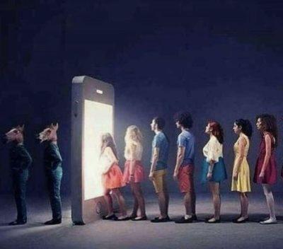 Phones = horses