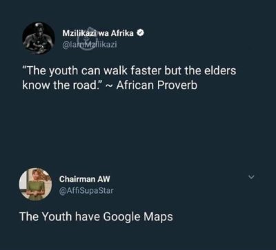 Elders didn't need google