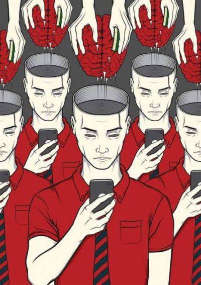 Use phone = free brain wash