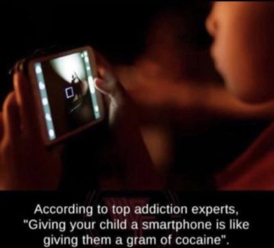 Phone user=drug addict