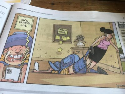 This was In the paper today