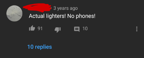 .¢ 3 years ago Actual lighters! No phones! It 91 q: n 10 10 replies https://inspirational.ly